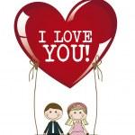 Illustration of love — Stock Vector #22816292