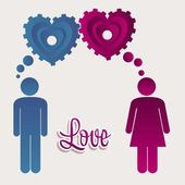 Illustration of love — Stock Vector