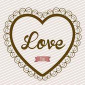Ilustracja miłość — Wektor stockowy