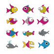Fish illustration — Stock Vector #23031428