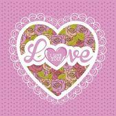 Ilustración de amor — Vector de stock