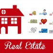 Real estate and house icons — Stock vektor