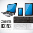 Computer icons — Stock Vector