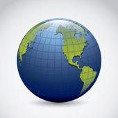 Planet earth icon — Stock Vector