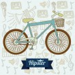 Hipster illustration — Stock Vector #24240937