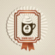 Coffee icons and labels — Stockvektor
