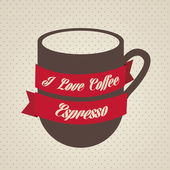 Coffee icons and labels — Vector de stock