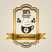 Coffee icons and labels — Stock Vector