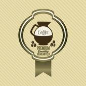Ikony kawy i etykiety — Wektor stockowy