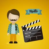 Hipster illustration — Stock Vector