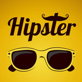 Hipster illustration — Stock Vector