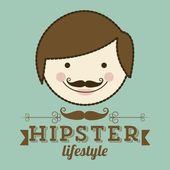 Hipster or father's day — Stock Vector
