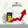 Oil industry - Stock Vector