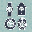 Time icons — Stok Vektör #25158401