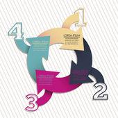 čísla brožura — Stock vektor