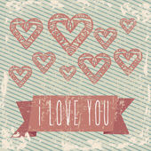 Liebeskarte — Stockvektor