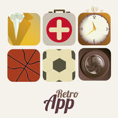 Retro app — Stock Vector
