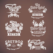 Vintage icons — Stock Vector
