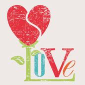 Tarjeta de amor — Vector de stock