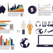 Stock Vector: Infographics economics