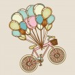 Bicycles and balloons — Stock Vector #26068335