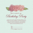 Stock Vector: Roses invitation birthday