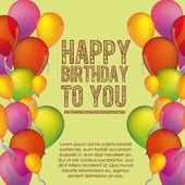 Grattis på födelsedagen — Stockvektor