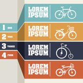 Bicycle infographics — Stock Vector