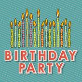 Happy birthday kerzen — Stockvektor