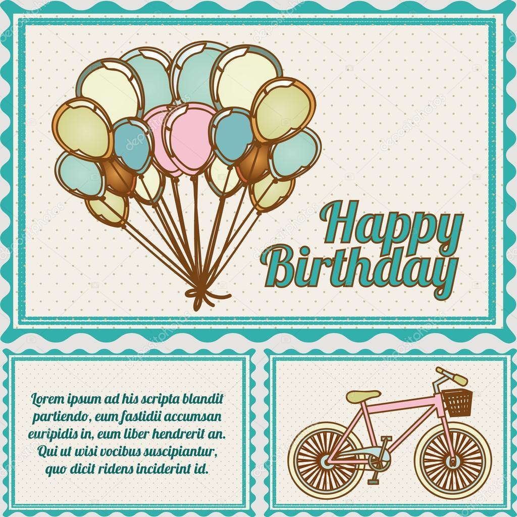 Happy birthday postcard — Stock Vector © grgroupstock #26068245
