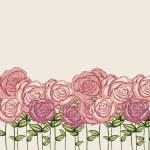 Roses garden — Stock Vector