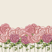 Rosen-garten — Stockvektor