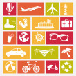 Travels icons — Stock Vector