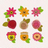 Květiny design — Stock vektor