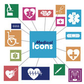 Medical icons infographics — Vetor de Stock