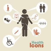 ícones saúde — Vetor de Stock
