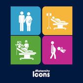 Icônes de maternité — Vecteur