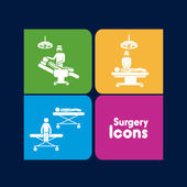 Surgery icons — Stock Vector