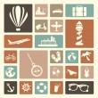 Stock Vector: Travels icons