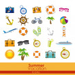 Summer vacation icons — Stock Vector #26271613