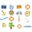 Vacations icons — Stock Vector