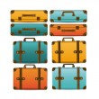 Travel suitcases — Stock Vector