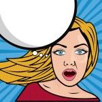 Woman comics — Stock Vector