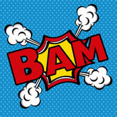 Bam comics icon — Stock Vector