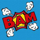 Bam comics icon — Stock Vector