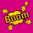 Royalty-Free Stock Vector Image: Boom comics icons