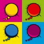 Imagination comics icons — Stock Vector
