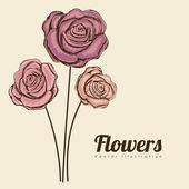 Conception de roses — Vecteur