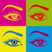 Gözleri tasarım — Stok Vektör