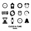 Clock and time icons — Vector de stock #26442083